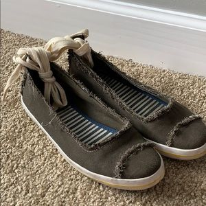 Kate Spade Hayley lace up flats size 8